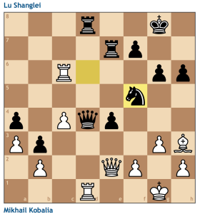Brilliant! Black is winning in all lines. White has nothing better than give the two rooks for the queen.
