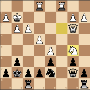 White's master plan begins, as from b5, the knight will move to d4, controlling the c6 square. With my inferior position, all I can do is sit and watch.