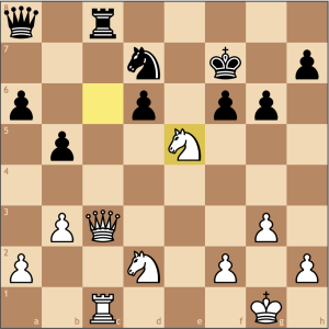And now the game is completely over, White's tactical acumen got him out of a passive opening, allowing him to assert his control over the game.