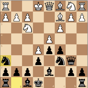 An unorthodox move justified tactically. Should white take on h6, b2 is hanging, and with it the a1 rook. From h6, the knight will want to go to f5, where it can reach its fullest potential attacking d4.