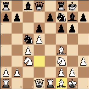 I thought this was a good decision when compared to Bc2. I decided that Black having a light squared bishop is inconvenient since going to f5 would block in the dark squared bishop, so going to c2 wasn't as appealing.