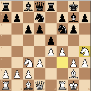 Knight on the rim is grim! Or is it? This is a new move for me, but it does help push the f-pawn to f5.