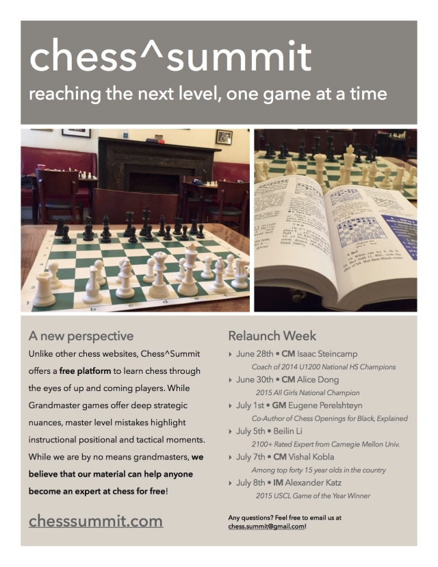 Chess^Summit Handout