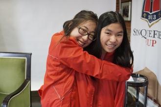 me hugging carissa